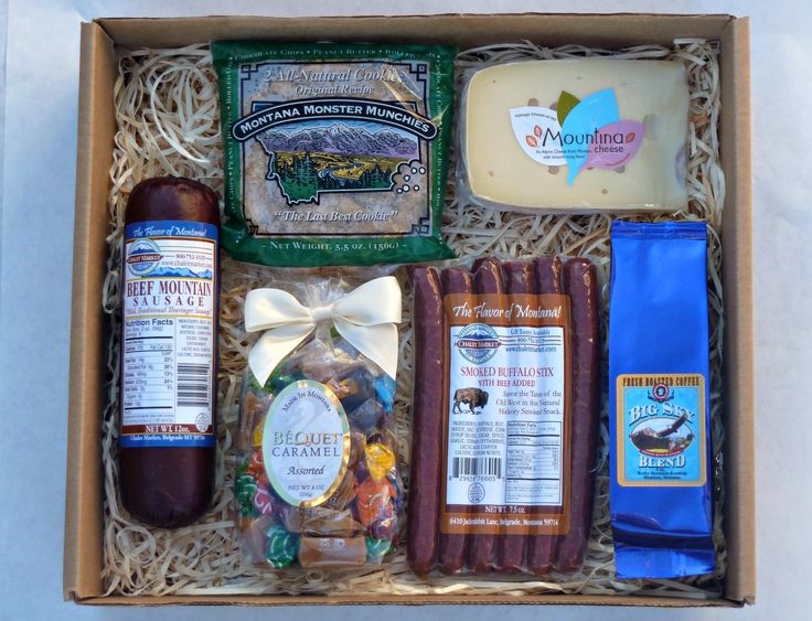 Best of the Gallatin Valley Gift Box.  All food manufactured in the beautiful Gallatin Valley!  A sample of meat, cheese, sweets and coffee!  Made in Montana.