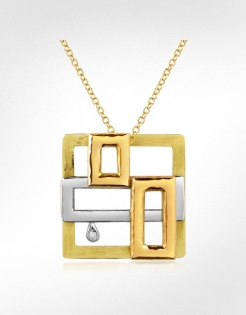 Torrini Cubisme #Diamond #18K #Gold #Pendant #Necklace. Check it out: http://www.whattowearpost.com/jewellery