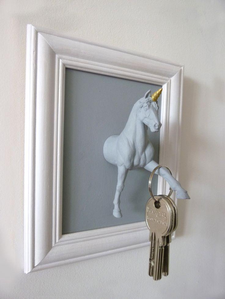 Les licornes ont la cote, ici dans l'entrée comme accroche-clés