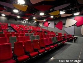 Small auditorium design concept + seating capacity and space requirement calculations.
