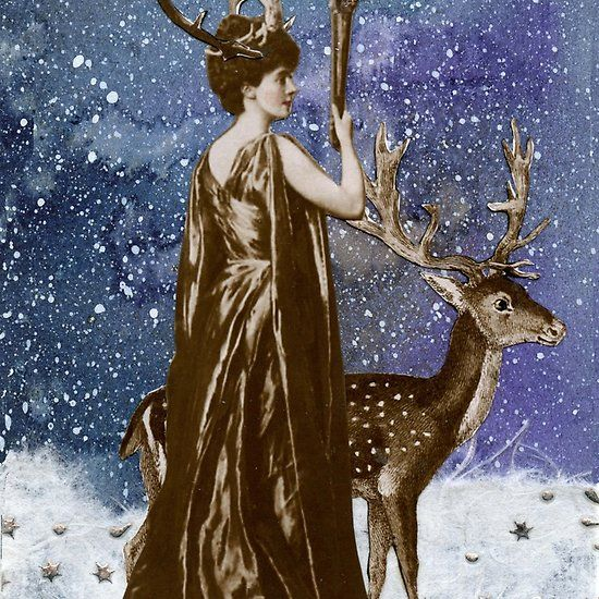 Winter Solstice Moon Goddess