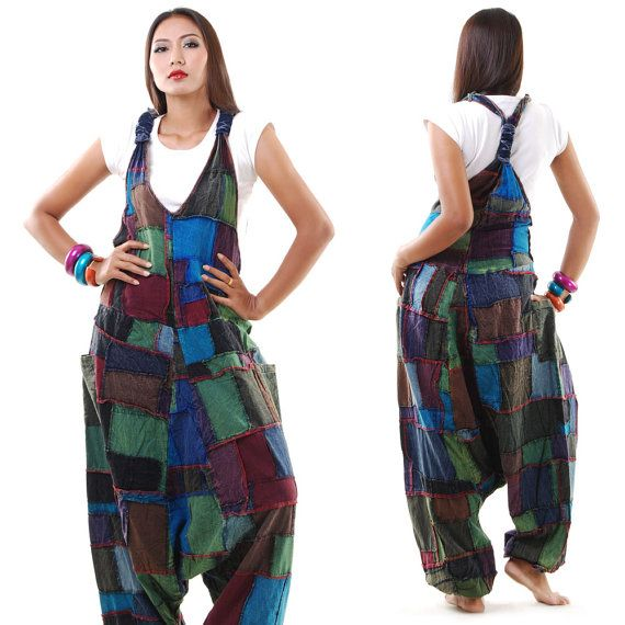 New Patchwork Batik Jumpsuit Overall Or Genie Pants