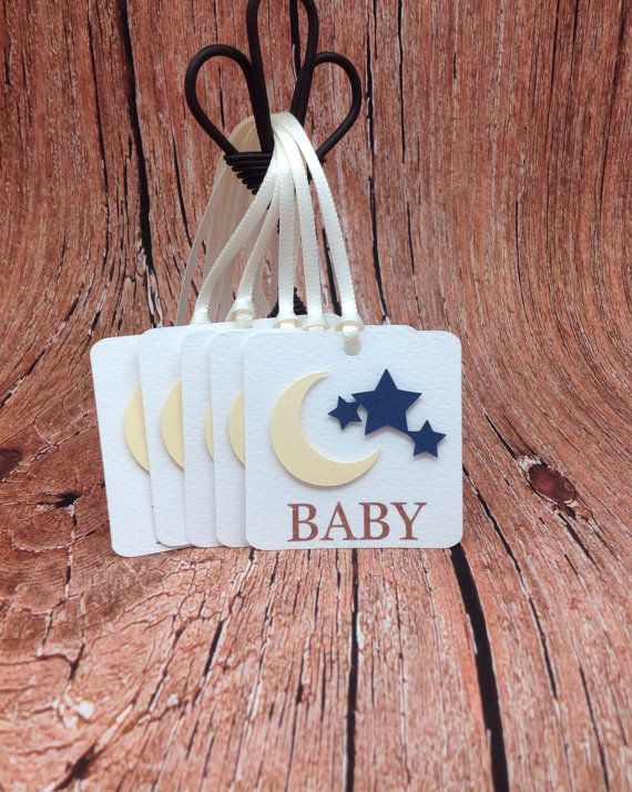 Baby Moon & Stars Favor Tag  Baby Favor by GraciousBeeGreetings, $4.50