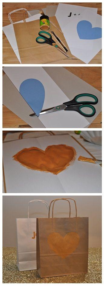 DIY Do it yourself - Give Away Bags http://wolkesieben-wedding.ch/news/diy-do-it-yourself-goldrausch-give-away-bags