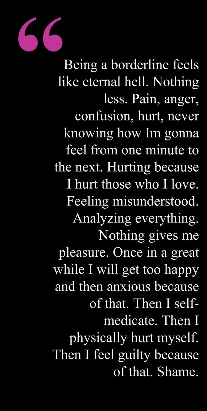 Dairy of a person who has Borderline Personality Disorder, known as BPD.. Very serious condition where patients feel constantly HURT and ANGER that causes GUILT and self-harm ~ NU