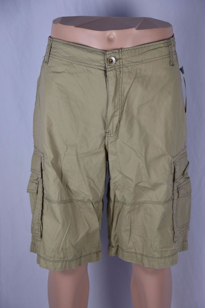 No Boundaries Mens 38 Light Weight Beige Khaki Cargo Shorts NEW Pockets Tan  #NoBoundaries #Cargo