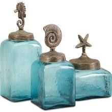 Imax Home 20046-3 Sea Life Canisters- Set of 3 Home Decor Accents Canisters