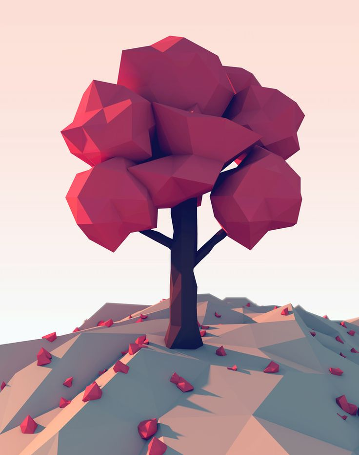 low poly tree - Google Search                                                                                                                                                                                 More