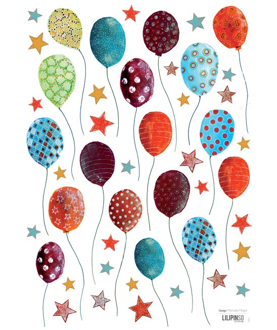"""Stickers """"Palloncini a pois"""""""