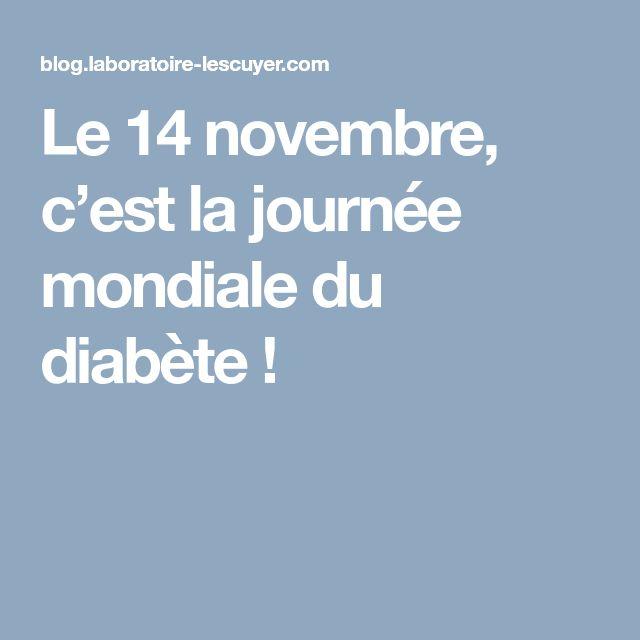 Le 14 novembre, c'est la journée mondiale du diabète !