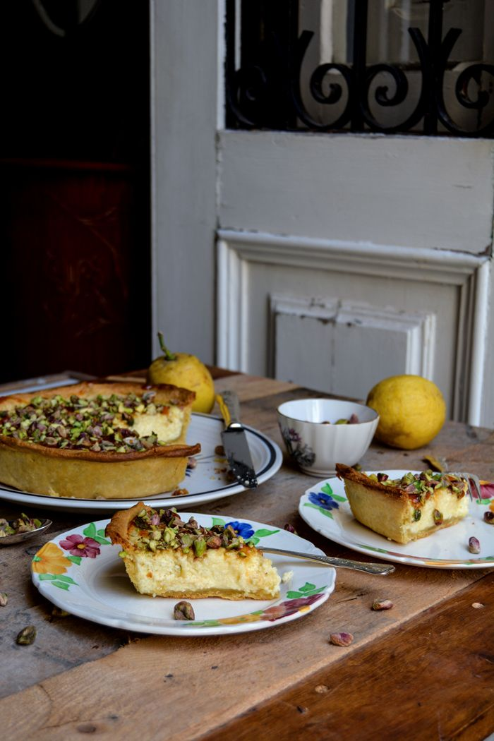 Maltese Ricotta Pie with Lemon Syrup and Pistachios : eat in my kitchen