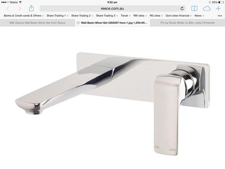 Reece milli glance wall basin mixer set