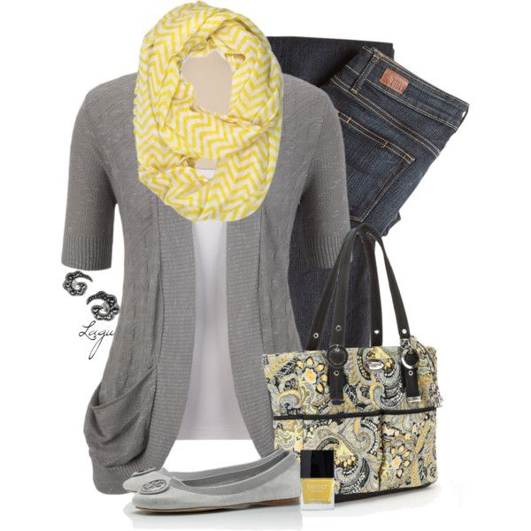 Yellow and Gray for Spring!, created by lagu on Polyvore