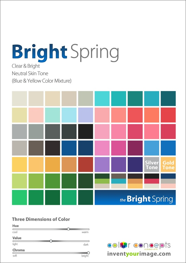 """Colors for a Bright Spring Man www.inventyourimage.com- This seems to have slightly more muting/depth than the """"standard"""" BSpr palettes - maybe this is what I need.  It seems to move just a *smidge* toward DAu."""
