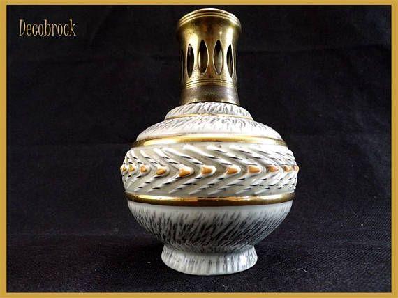 Lampe Berger diffuseur de parfum  signée Berger paris France vintage france vintagefr déco shabby chic vintage