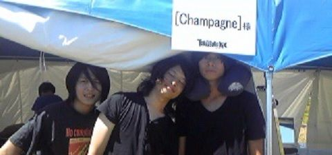 [Champagne]川上洋平・磯部寛之・白井眞輝2010/8/28 楽屋 Drは…?☆すみれ/「TREASURE05X with ZIP-FM  ~WE ROCK!~」@大塚海浜緑地