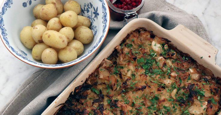 Siri Barjes gröna variant av en klassisk kålpudding. Väldigt god även i matlådan dagen efter.