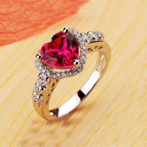 so beautiful. Ruby Heart Cubic Zirconia Ring on Picsity ...