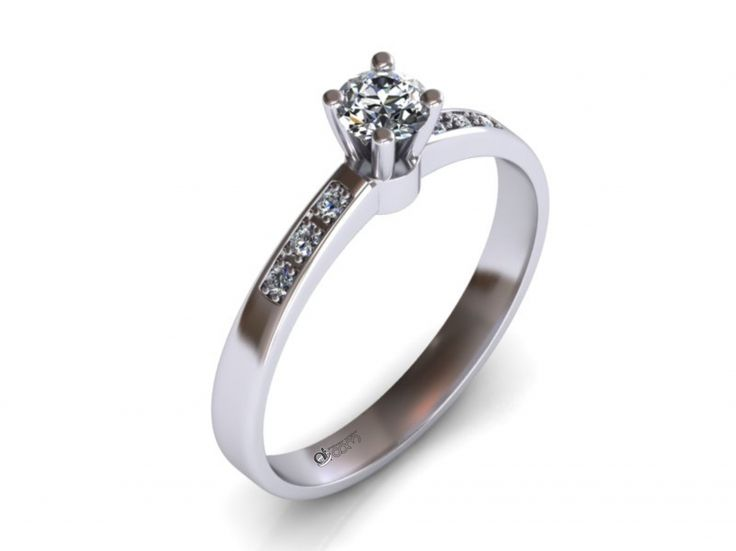 Inel de logodna ATCOM Lux cu diamante MIRA aur alb