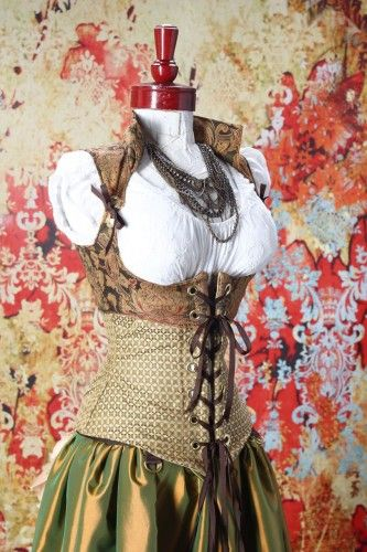 """Green Wench & Cropped Vixen Corset Set  Damsel In This Dress    This would be perfect for a """"themed wedding"""" look... Just saying..."""