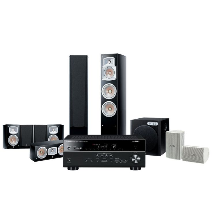Yamaha YHT-9910AU 7.1 Channel Home theatre Package Speakers + RX-V677 Amplifier
