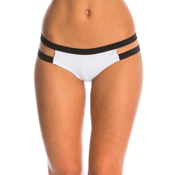 Rip Curl Swimwear Mirage Colorblock Bikini Bottom (€45) ❤ liked on Polyvore featuring swimwear, bikinis, bikini bottoms, white, cut out bikini, white swim top, white bikini top, rip curl bikini and white tankini top