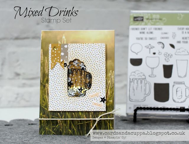 Sarah-Jane Rae cardsandacuppa: Stampin' Up! UK Order Online 24/7: Day One of Four Days using Mixed Drinks Stamps by Stampin' Up! - A Beer Jug No Die Shaker Card