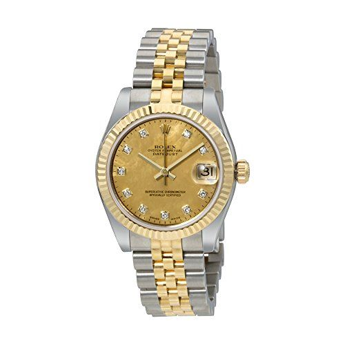 Rolex Oyster Perpetual Datejust 18 Carat Yellow Gold Jubilee Automatic Ladies Wa...