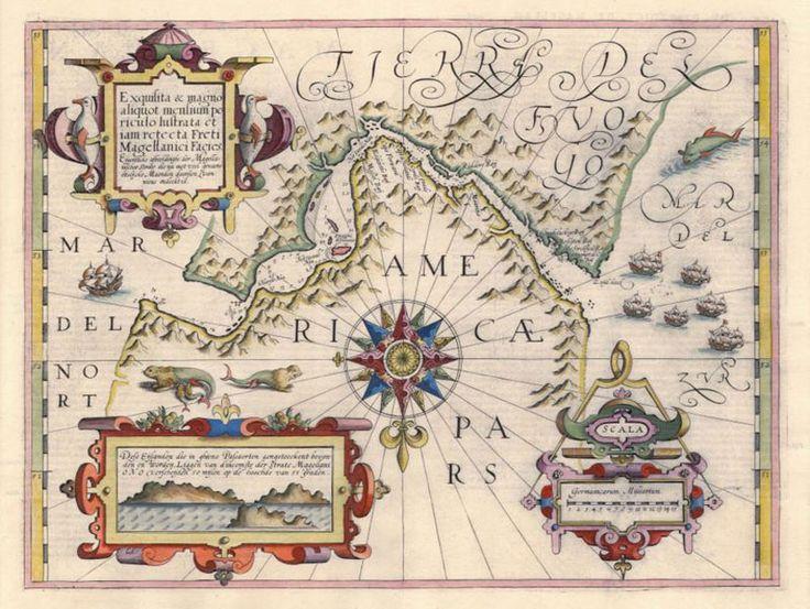 colección de cartas antiguas de la Patagonia