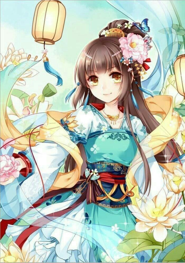 Anime girl in thong