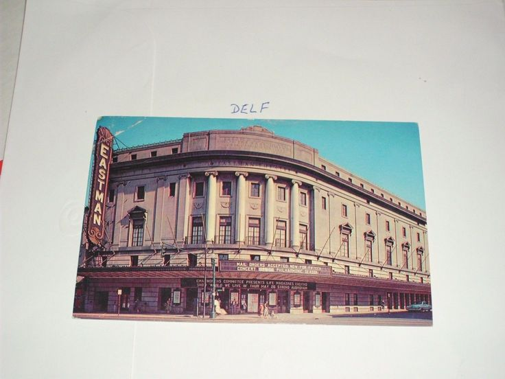 Rochester New York Eastman Theatre School of Music Philhamonic Concert Sign