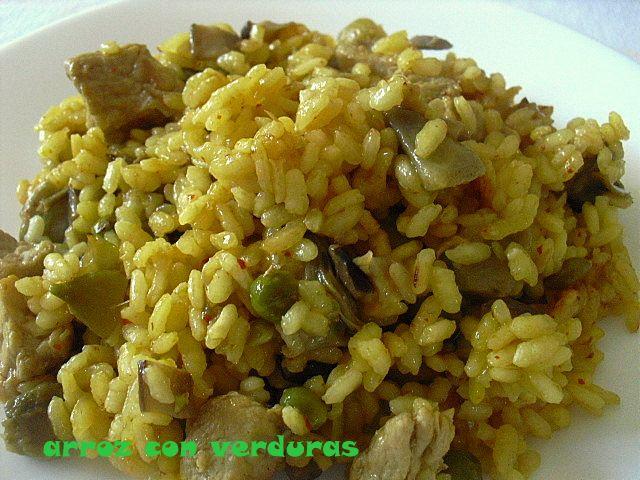 las recetas de mi abuela: ARROZ CON VERDURAS