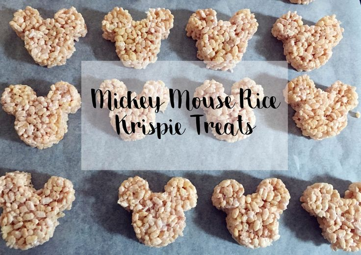 Mickey Mouse Rice Krispie Treats - Charlotte Shares