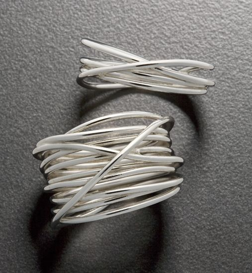Wrap Ring: Randi Chervitz: Silver Ring - Artful Home