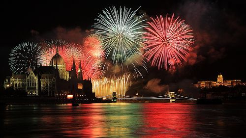 20th August fireworks Budapest