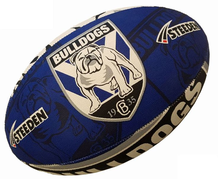 Bulldogs Rugby Ball by Steeden