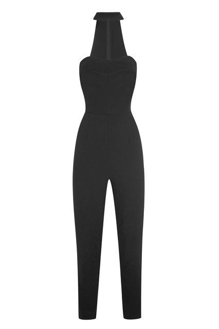Kendall & Kylie's Topshop Holiday Collection Is HERE #refinery29  http://www.refinery29.com/2015/11/97757/kendall-kylie-jenner-topshop-holiday-collection#slide-7  A jumpsuit we could easily see on big sis Kourtney.Kendall + Kylie Cut-out High-neck Jumpsuit, $130, available at Topshop....