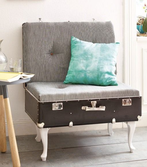 Reuse Old Suitcases - 16 Furniture Ideas for Home Decoration