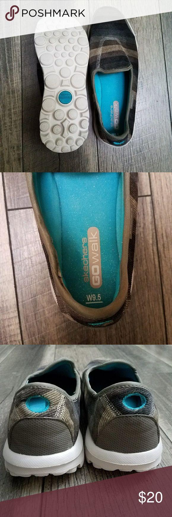 Skechers Go Walk Striped Slip On Shoes Striped Skechers Go Walk slip on shoes Skechers Shoes Athletic Shoes