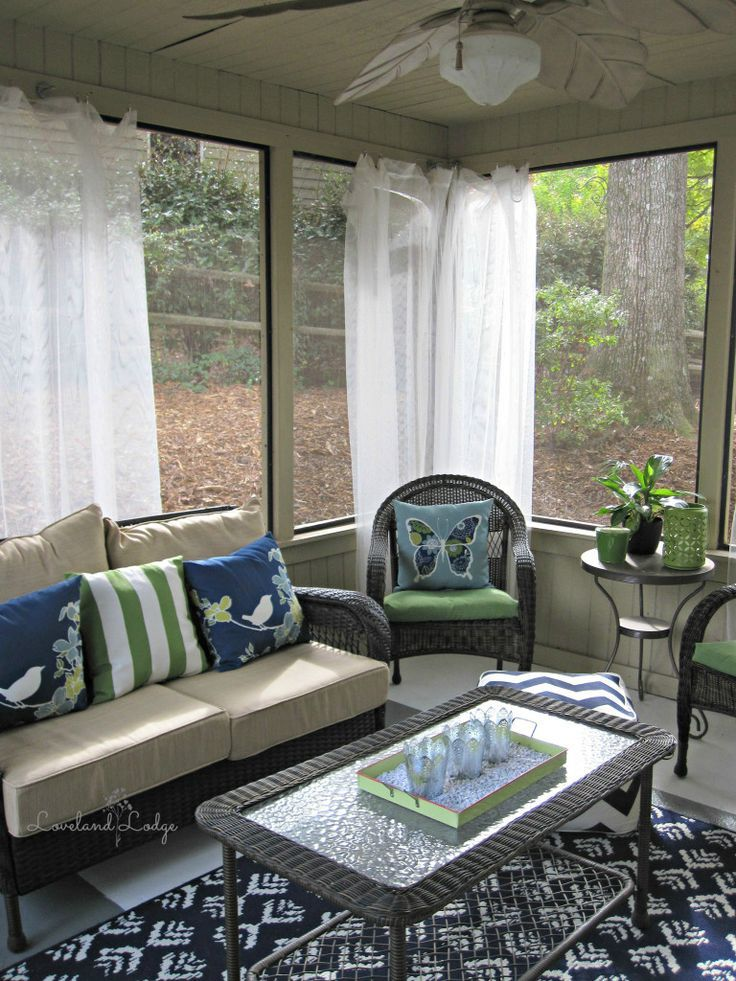 Screened porch makeover on a budget