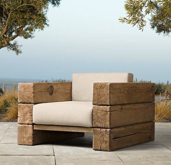 Wooden tables, chairs, benches and other accessories look really natural and beautiful in gardens and outdoors in general because of the material's organic