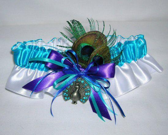 Pávatollas harisnyakötő, Peacock wedding garter