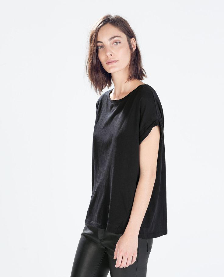 Bilde 3 fra T-SKJORTE I BOMULL fra Zara