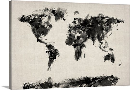 Abstract Black and White world map