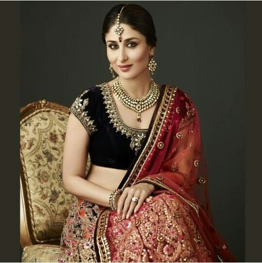 Kareena Kapoor in dazzling color combination suits the complexion color and shine. Description from pinterest.com. I searched for this on bing.com/images