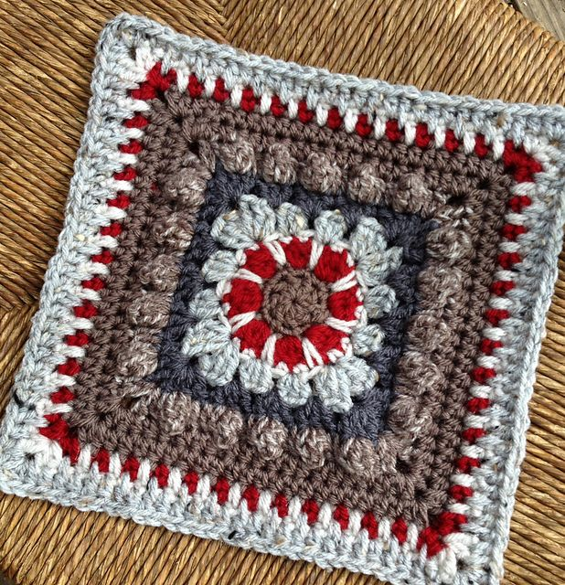 """Ravelry: chitweed's Crochet Dahlia Square. Free pattern by Sarah Zimmerman. Its a small crochet pattern, I added rounds to get to the 9"""" size, notes on my project page."""