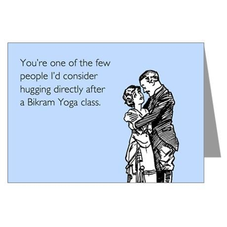 46 best yoga funnies images on pinterest yoga yoga exercises and bikram yoga class greeting card m4hsunfo