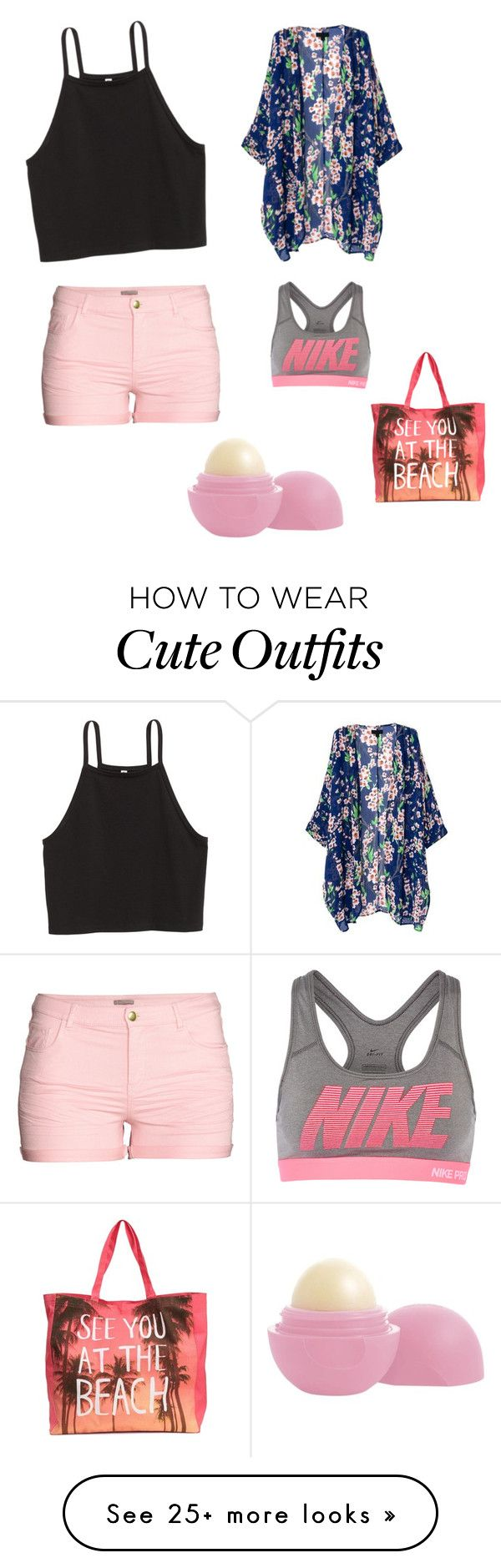 """Cute Summer Outfit"" by lsantana13 on Polyvore featuring H&M, NIKE and Eos"