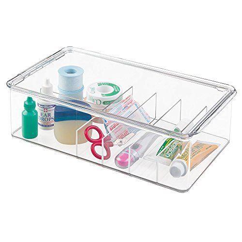 Clear Storage Box Case First Aid Kit Medicine Medical Dental Supplies Organizer #MetroDecor