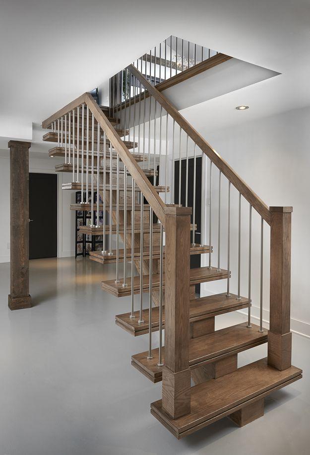 Escalier flottant construction for Construction escalier interieur